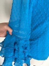 画像6: 《即納品》定番ブラウス、立体水玉、ブルー (6)
