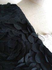 画像2: 《再入荷》チャレコ、立体バラ、ブラック (2)