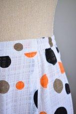 画像4: 《即納品》ペチコート、織模様生地、ロング・ギャザーフリル1段 (4)