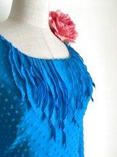 画像7: ¥ご奉仕価格¥フロント飾りのブラウス、鮮やかブルー (7)