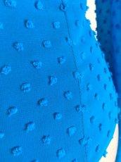 画像12: ¥ご奉仕価格¥フロント飾りのブラウス、鮮やかブルー (12)