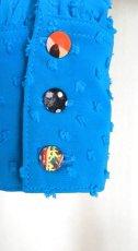 画像4: ¥ご奉仕価格¥フロント飾りのブラウス、鮮やかブルー (4)