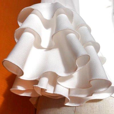 画像1: 《即納品》フロントフリル、フリル3段、ホワイト