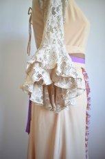 画像7: 《即納品》ツーピースドレス、オートミール×ラベンダーカラー (7)