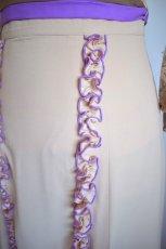 画像2: 《即納品》ツーピースドレス、オートミール×ラベンダーカラー (2)