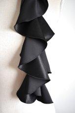 画像3: 《即納品》スカーフ、スパイラル、サテン、ブラック (3)