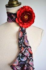 画像2: 《即納品》スカーフ、スパイラル、ピンクペイズリー (2)
