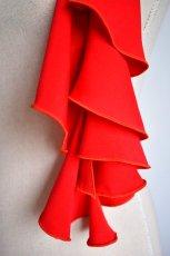 画像3: 《即納品》スカーフ、スパイラル、ジョーゼット生地無地、レッド (3)