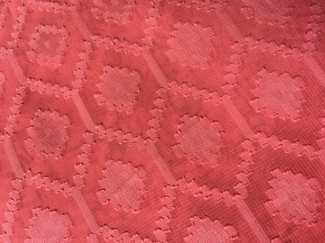画像1: 織模様ピンク生地 (1)