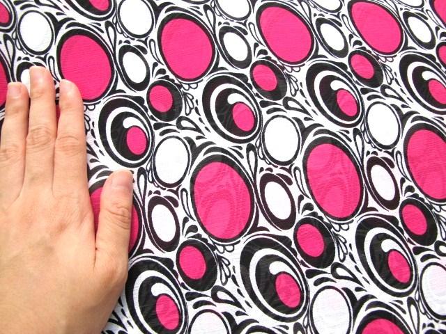画像1: みずたま生地、ピンク (1)