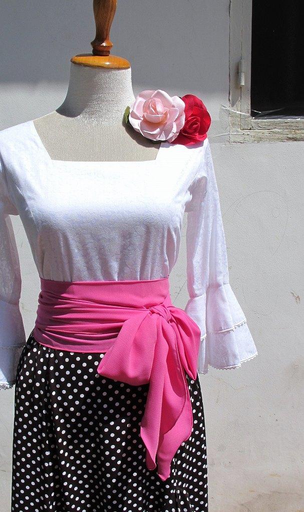 画像1: 《即納品》ピンク、ジョーゼット生地 (1)