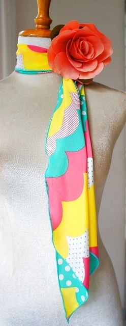 画像1: 《即納品》スカーフ、ストレート (1)