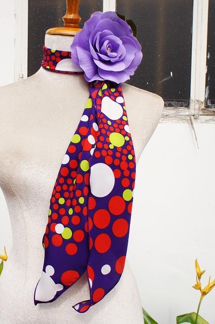 画像1: 《即納品》スカーフ、ストレート、スペイン生地 (1)