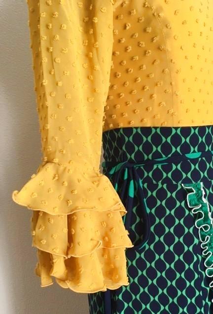 画像1: 【オプション料金】ブラウスの袖フリル1段につき (1)