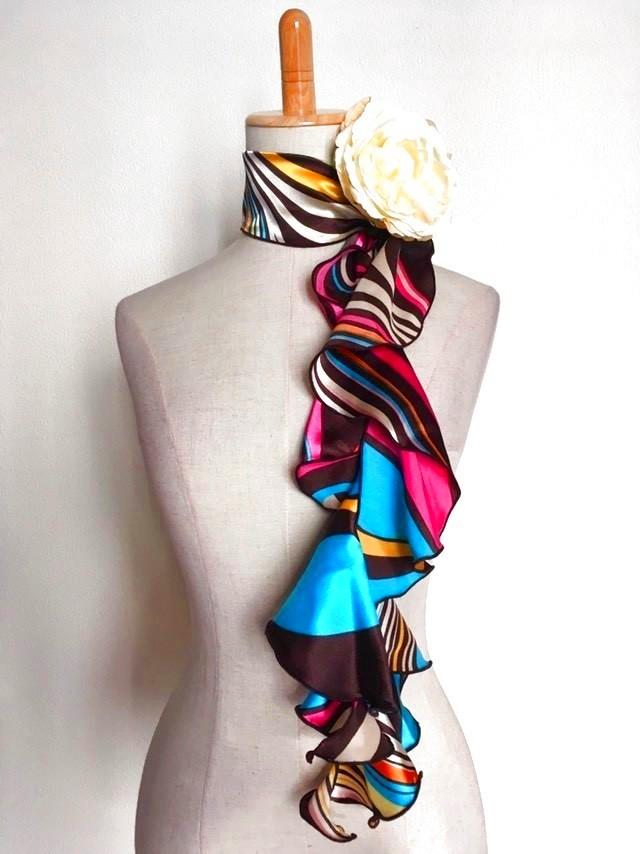 画像1: 《即納品》スカーフ、スパイラル、マーブル (1)