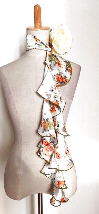 画像1: 《即納品》スカーフ、スパイラル (1)