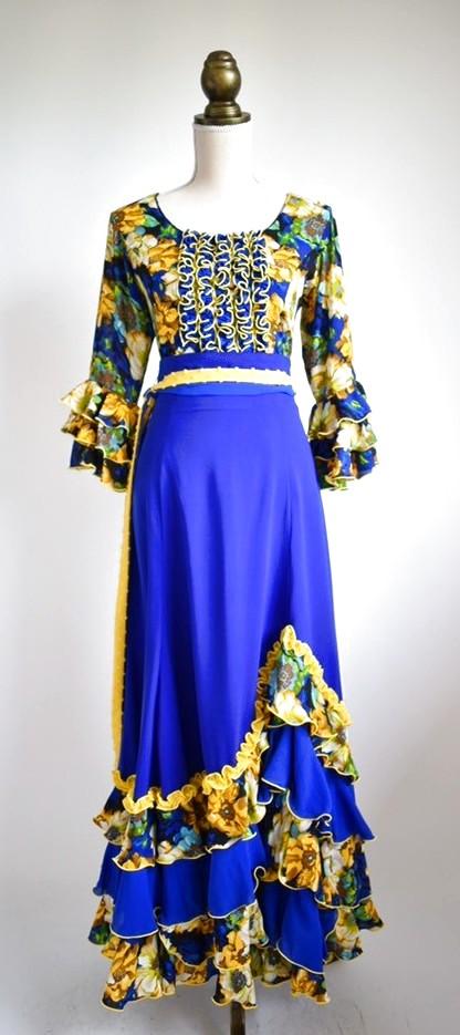 画像1: 《即納品》ツーピースドレス、テーラーメイドの1点もの、Lサイズ (1)