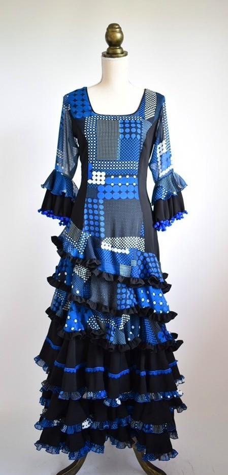 画像1: フラメンコドレス、Lサイズ (1)