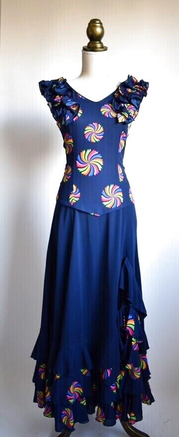 画像1: 《即納品》ネイビー色ドレス (1)