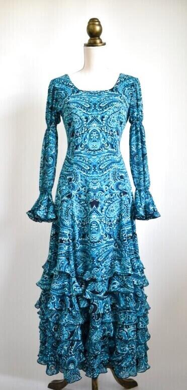 画像1: 《即納品》フラメンコドレス、テーラーメイドの1点もの (1)