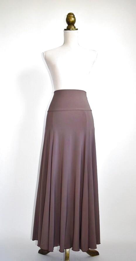 画像1: 美☆ストレッチファルダ、カフェオレ色、裾の巻き色はブラック (1)