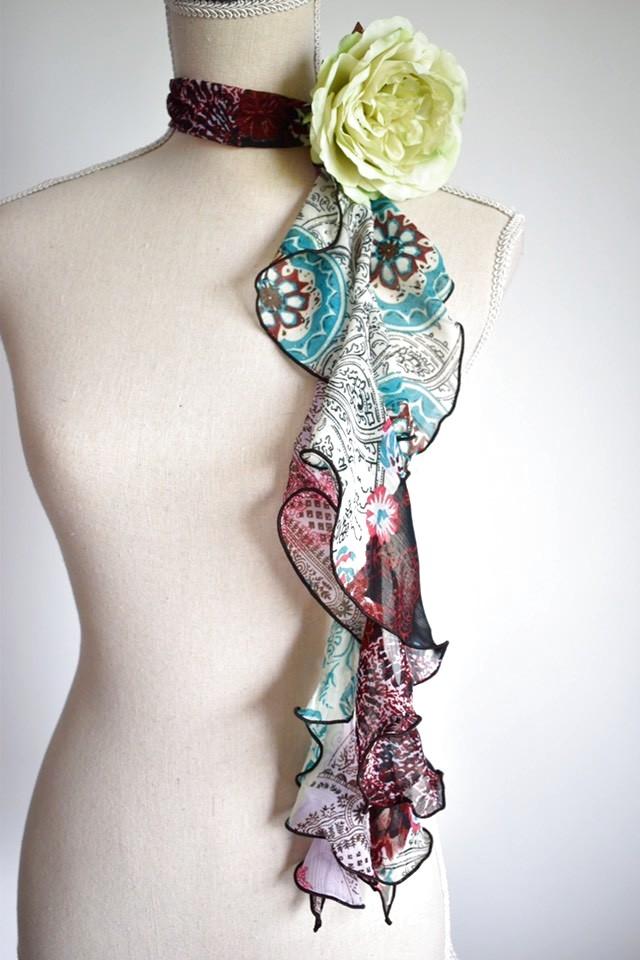 画像1: 《即納品》スカーフ、スパイラル、ボヘミアン (1)